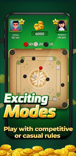 Carrom Gold : Multiplayer Friends Board Games King 2.30 screenshots 2
