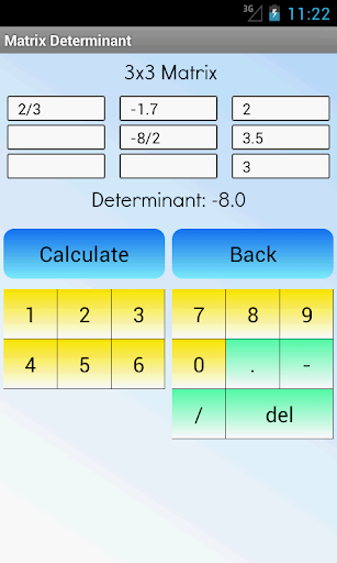 Matrix Determinant Calculator ss1