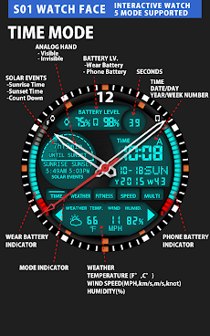 S01 WatchFace for Android Wearのおすすめ画像3
