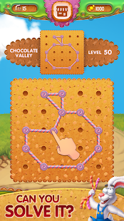 Toffee : Line Puzzle Game. Free Rope Shapes Game