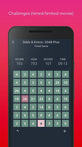 odds & evens: 2048 plus screenshot 2