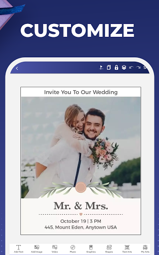 Digital Invitation Card Maker - Video eCards Apkfinish screenshots 8