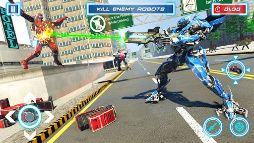 Lion Robot Transform War : Light Bike Robot Games 1.7 screenshots 6