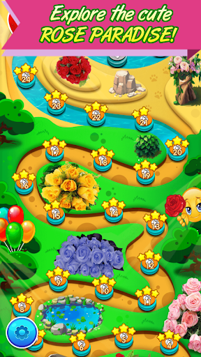 Rose Paradise - most popular flower matching games apkpoly screenshots 2