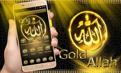 Allah Gold Theme Wallpaper For Pc (Windows And Mac) Download Now 2