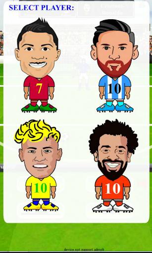 Ronaldo Messi Neymar Salah Football star free kick screenshots 1
