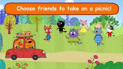 Kid-E-Cats: Picnic with Three Catsu30fbKitty Cat Games  screenshots 4