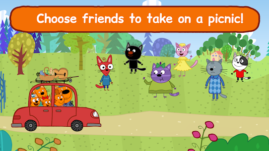 Kid-E-Cats: Picnic with Three Cats・Kitty Cat Games 4