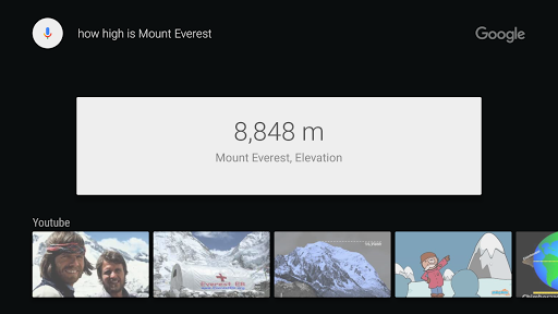 Google app for Android TV 2.2.0.138699360 Screenshots 3