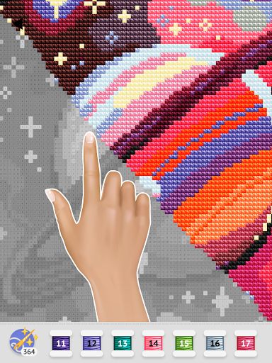 Cross Stitch Club u2014 Color by Numbers with a Hoop 1.4.32 screenshots 12
