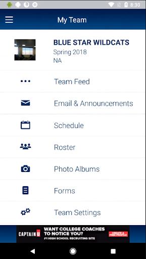 sports team connect screenshot 2