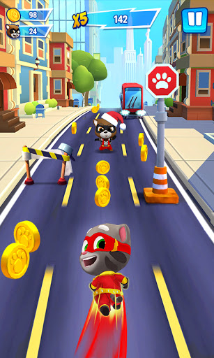 Talking Tom Hero Dash  APK MOD (Astuce) screenshots 1