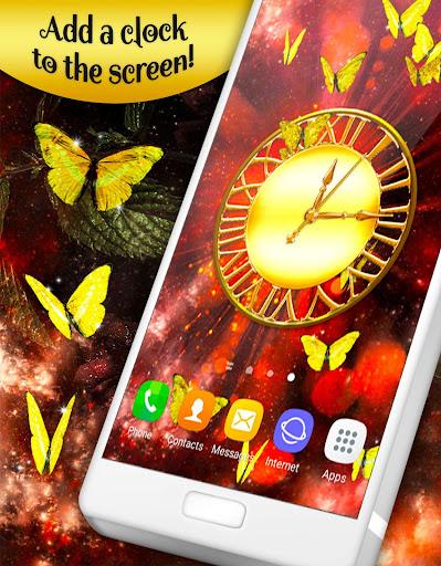 gold butterfly live wallpaper 🦋 golden wallpapers screenshot 2
