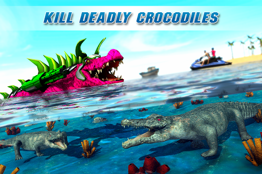 Real Robot Crocodile Simulator- Robot transform 1.0.12 screenshots 4