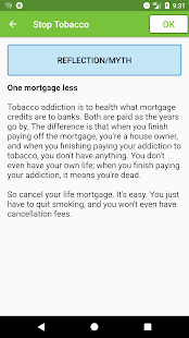 Stop Tobacco Mobile Trainer. Quit Smoking App Free