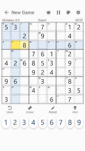 Screenshot 6 de Killer Sudoku - Free Sudoku Puzzles+ para android
