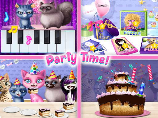 Cat Hair Salon Birthday Party - Virtual Kitty Care 8.0.80007 screenshots 15