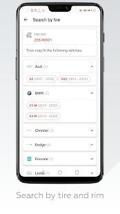 Wheel Size - Wheels database,Tire Size Calculator 2.8.6 Screenshots 7