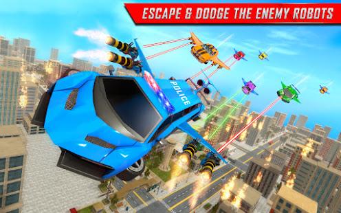 Flying Limo Robot Car Transform: Police Robot Game 1.0.32 Screenshots 18
