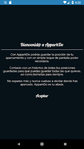 ApparkDo - Encuentra tu coche 2.0.0 screenshots 1