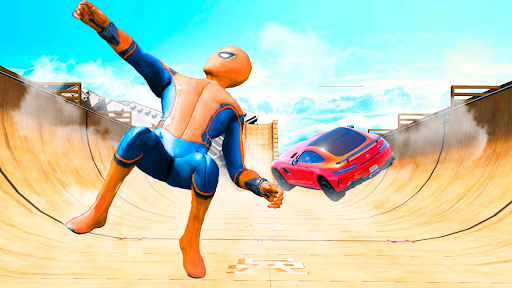 Superhero Car Stunts - Racing Car Games 1.0.7 screenshots 11