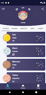 Horos - Natal Chart Screenshot