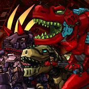 Dino Robot Battle Field - Armoured Dinosaurs War