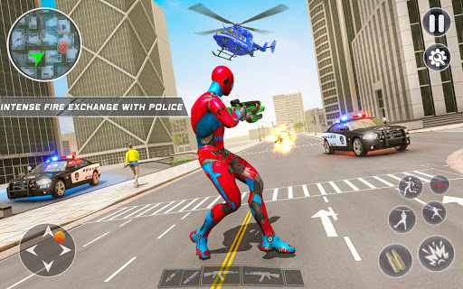 Spider Rope Hero Robot - Vegas Crime City Gangster  screenshots 3