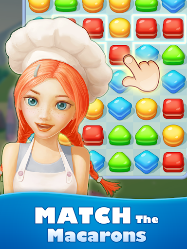 Sweet Macaron : Match 3 apkslow screenshots 6