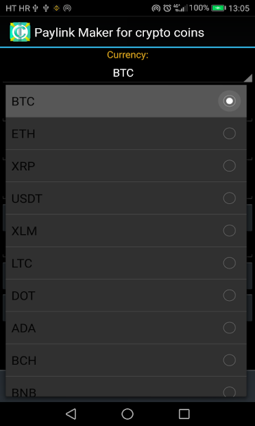PayLink Maker for crypto currency coins screenshot 19
