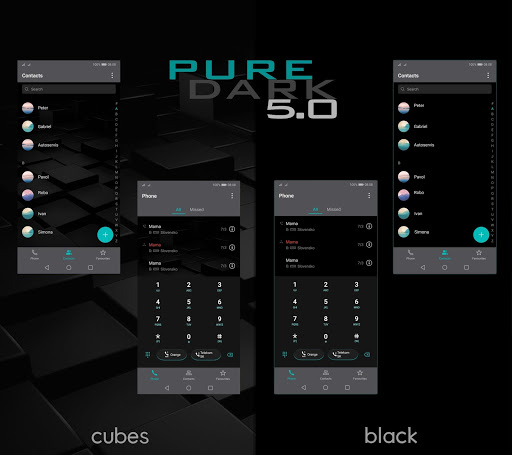 [emui 9.1]pure dark 5.0 theme screenshot 2