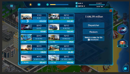 Virtual Truck Manager 2 Tycoon trucking company Unlimited Money