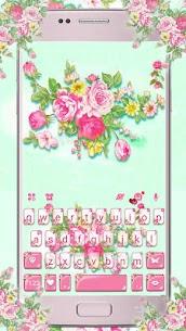 Pink Flower Garden Keyboard Theme 1.0 Android Mod APK 1