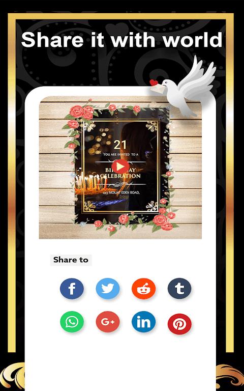 Video Invitation Maker - Create eCards  poster 13