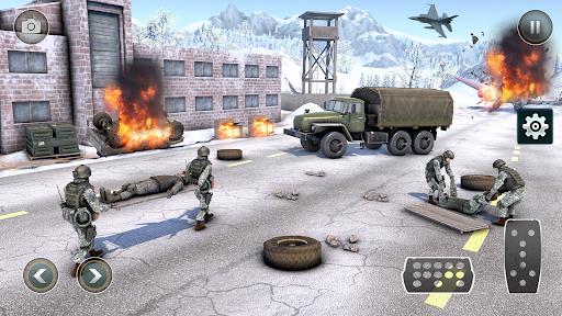 New Army Truck simulator: Free Driving Games 2021  screenshots 1