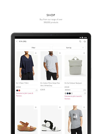 John Lewis & Partners modavailable screenshots 14