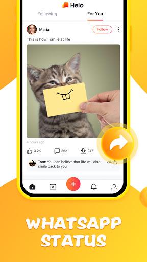Helo - Funny Video, WhatsApp Status  Screenshots 3