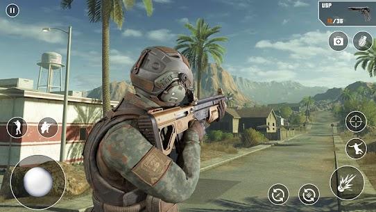 Anti-Terrorist FPS Shooting Mission:Gun Strike War Mod Apk (God Mode) 5