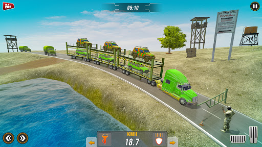 Off-Road Army Vehicle Transporter Truck  screenshots 1