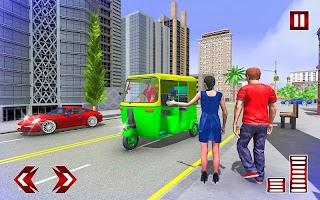 Modern Auto Rickshaw Games:City Taxi Driving Games