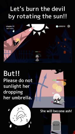 Girl x Sun - Terasene - Tower defence & Novel game  screenshots 3