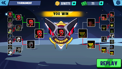 Stickman Superhero - Super Stick Heroes Fight  screenshots 16