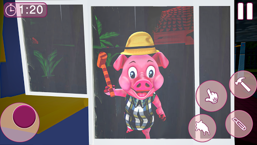 Piggy Family 3D: Scary Neighbor Obby House Escape apkpoly screenshots 1