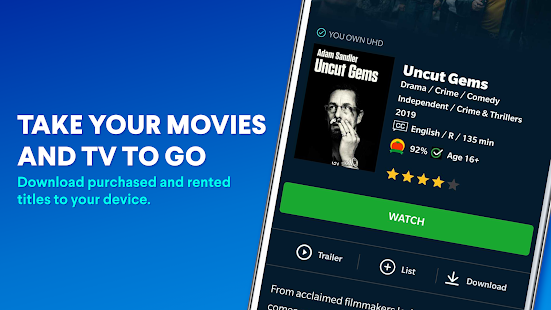 Vudu - Rent, Buy or Watch Movies with No Fee! Screenshot