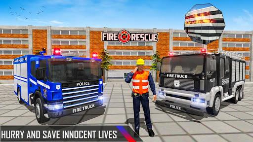 Police Ambulance Fire Truck Simulator 2021  screenshots 1