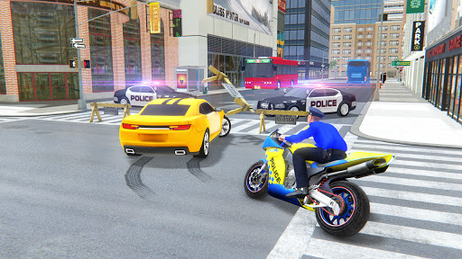 US Police Bike Gangster Crime - Bike Chase Game 3D 1.12 Screenshots 1