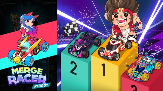 Merge Racer : Idle Merge Game Mod Apk 1.0.1 (Unlimited Coins/Cash/Diamonds/Tickets) 8