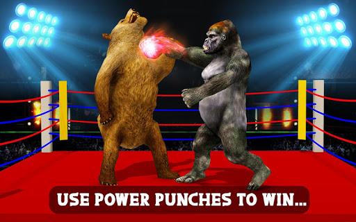 Wild Gorilla vs Wild Bear Ring Fighting: Wild Hunt apktram screenshots 4
