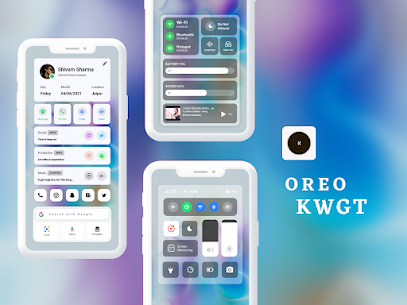 OREO KWGT Apk 2.1 (Paid) for Android 3