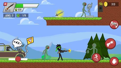 Stickman vs Zombies: stickman contre zombies APK MOD – Pièces Illimitées (Astuce) screenshots hack proof 1